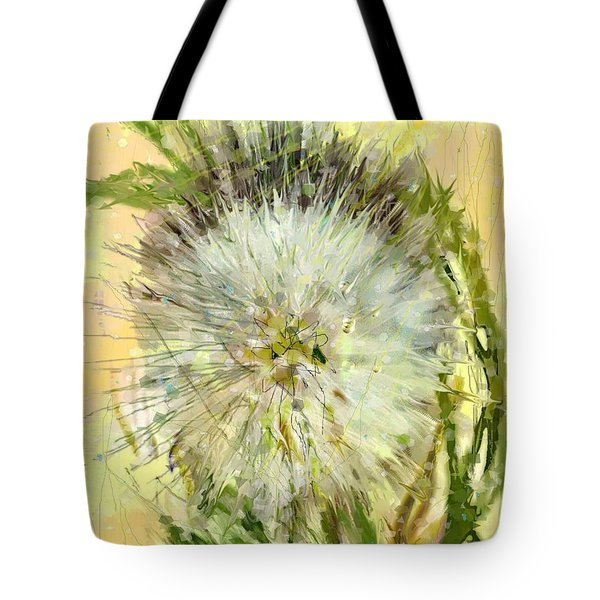 Dandelion Sunshower Tote Bag