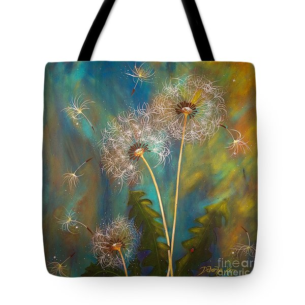 Dandelion Wishes Tote Bag by Deborha Kerr