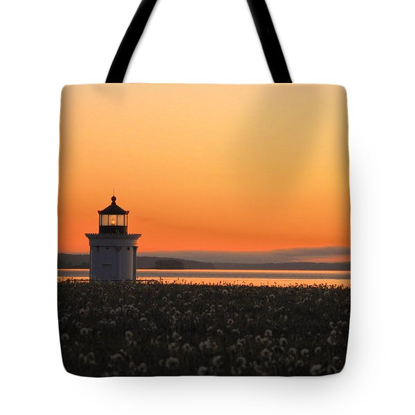 Dandelions At Sunrise Tote Bag