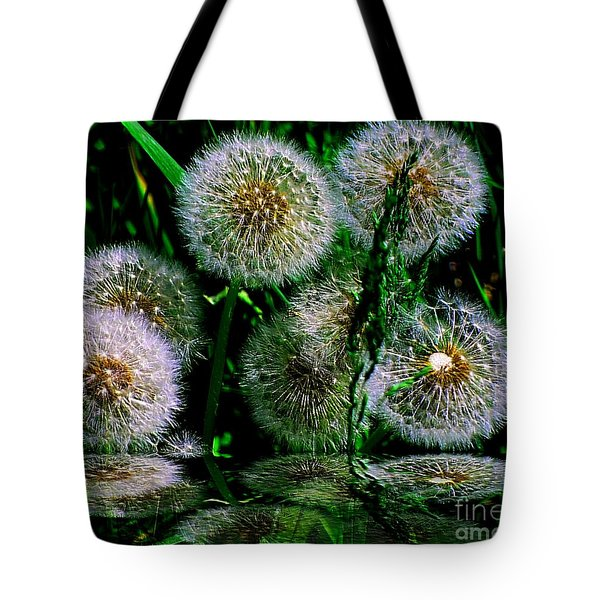 Tote Bag featuring the photograph Dandies  by Elfriede Fulda