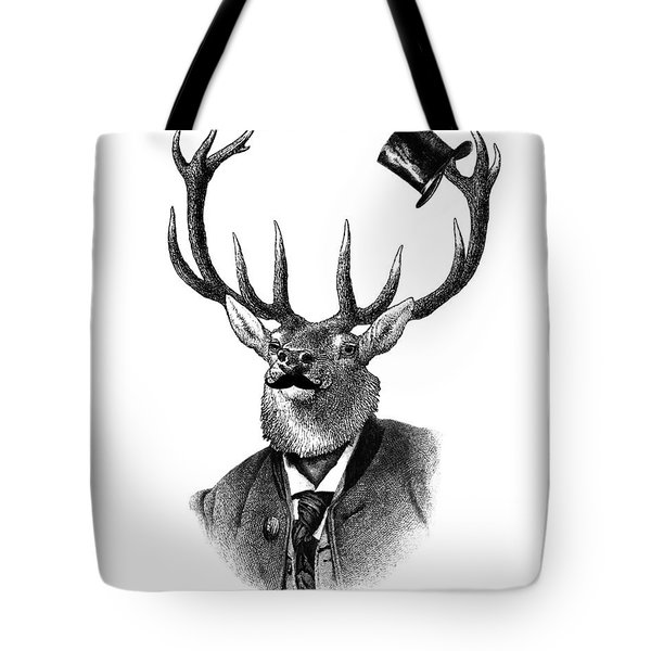 Dandy Deer Portrait Tote Bag