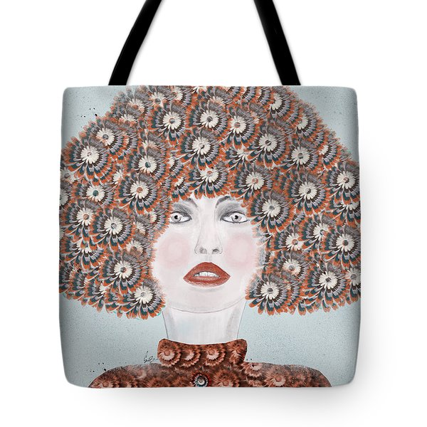 Tote Bag featuring the painting Dandy Moo by Bri B