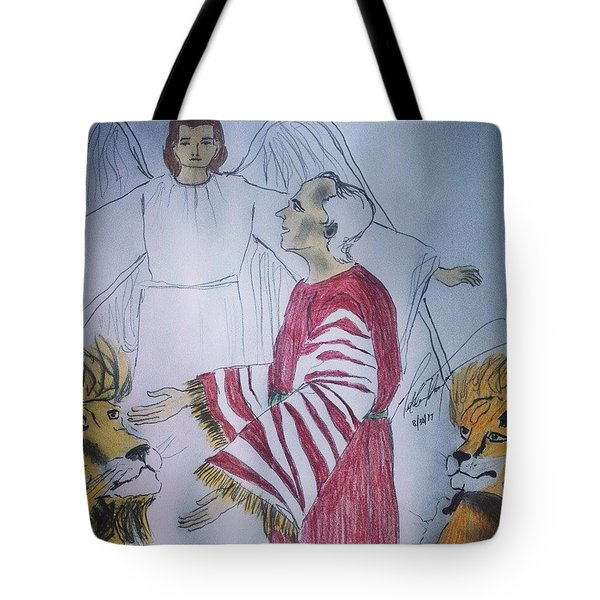 Daniel And Lion's Den Tote Bag
