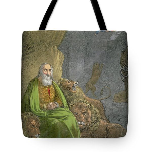 Daniel In The Lions' Den Tote Bag