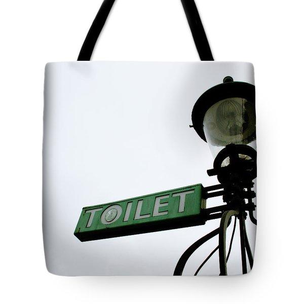 Danish Toilet Sign Tote Bag