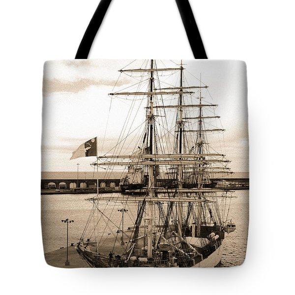 Danish Training Ship Tote Bag by Gaspar Avila