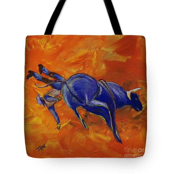 Tote Bag featuring the painting Danny At The Rodeo by Janice Rae Pariza