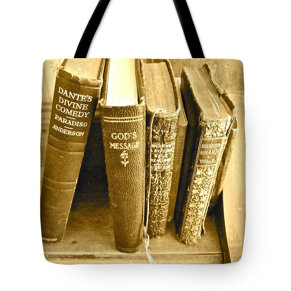 Dante God And Shakespeare ... Tote Bag by Gwyn Newcombe