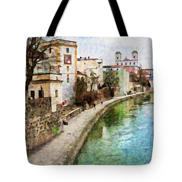 Danube River At Passau, Germany Tote Bag