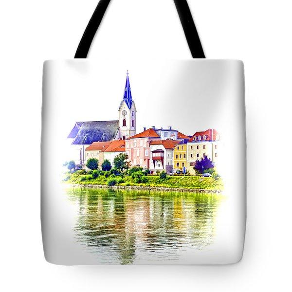 Danube Village Tote Bag by Dennis Cox WorldViews