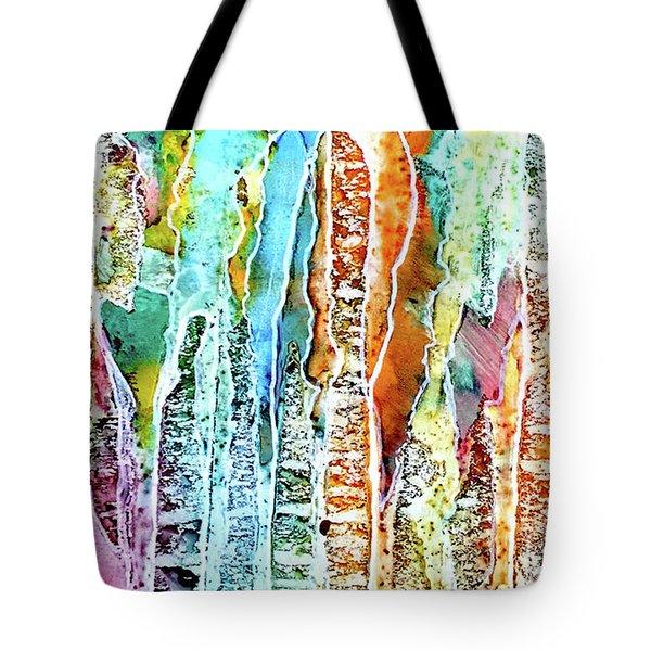 Danxia Water Falls Tote Bag by Alene Sirott-Cope