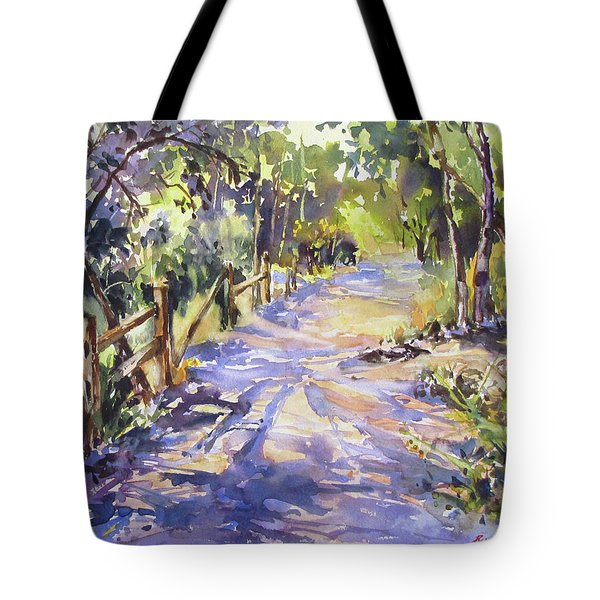 Dappled Morning Walk Tote Bag
