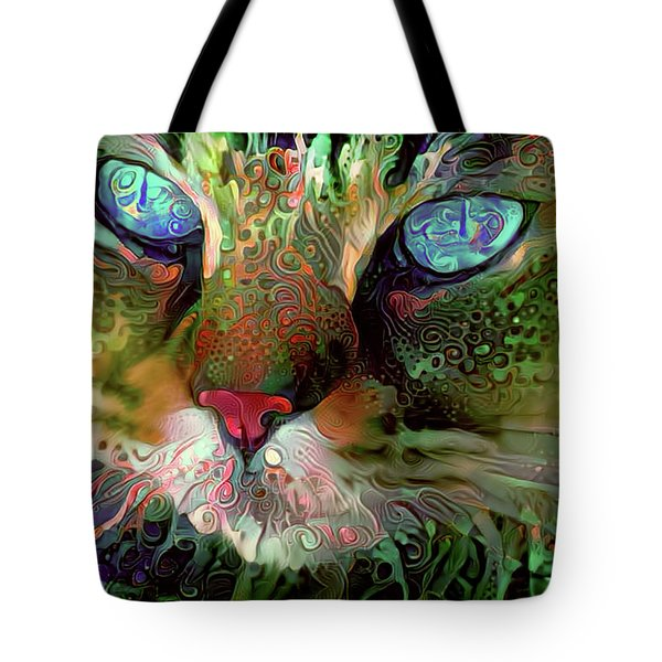Darby The Long Haired Cat Tote Bag