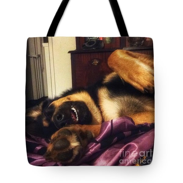 Darcy.  #dogs #gsd #germanshepherd Tote Bag