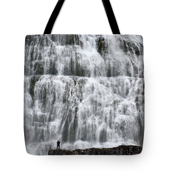 Tote Bag featuring the photograph Dynjandi Daredevil by Joe Bonita