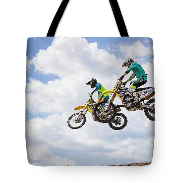 Daring Duo Tote Bag by Fran Gallogly