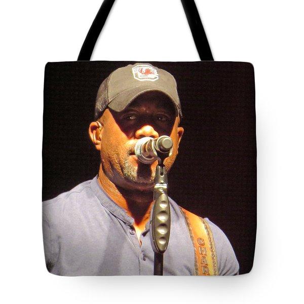 Darius Rucker Live Tote Bag by Aaron Martens