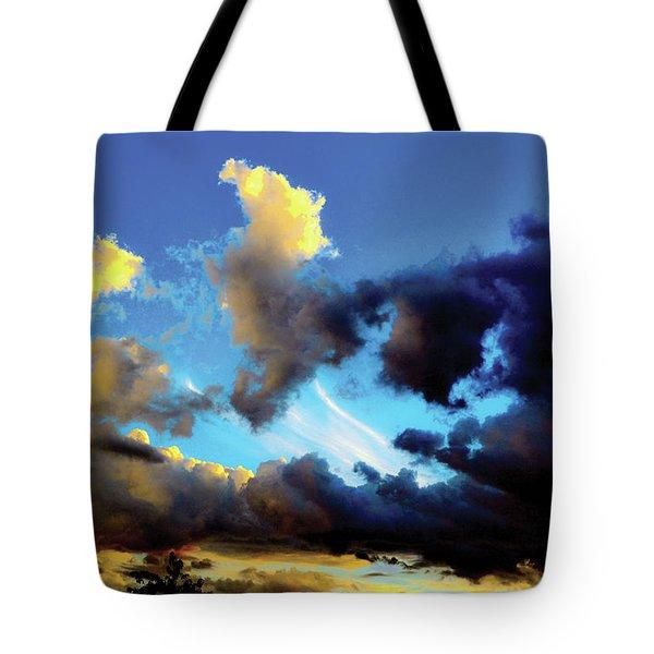 Dark And Dusty Skies  Tote Bag