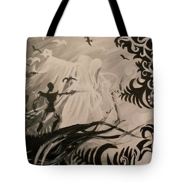 Dark And Light Tote Bag by Lisa Leeman