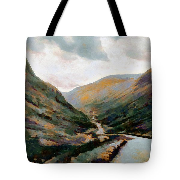 Dark And Moody Honister Pass In Cumbria Tote Bag
