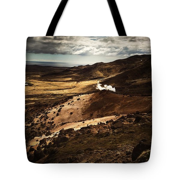 Dark And Steaming Iceland Tote Bag