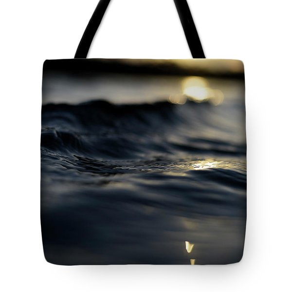 Tote Bag featuring the photograph Dark Atlantic Traces by Laura Fasulo