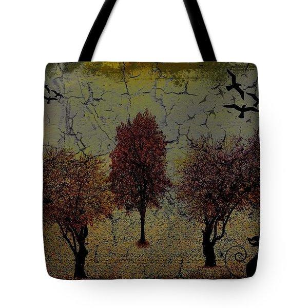 Dark Autumn Night Tote Bag