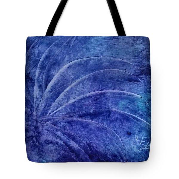 Dark Blue Abstract Tote Bag