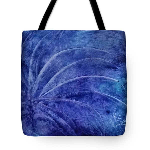 Dark Blue Abstract Tote Bag