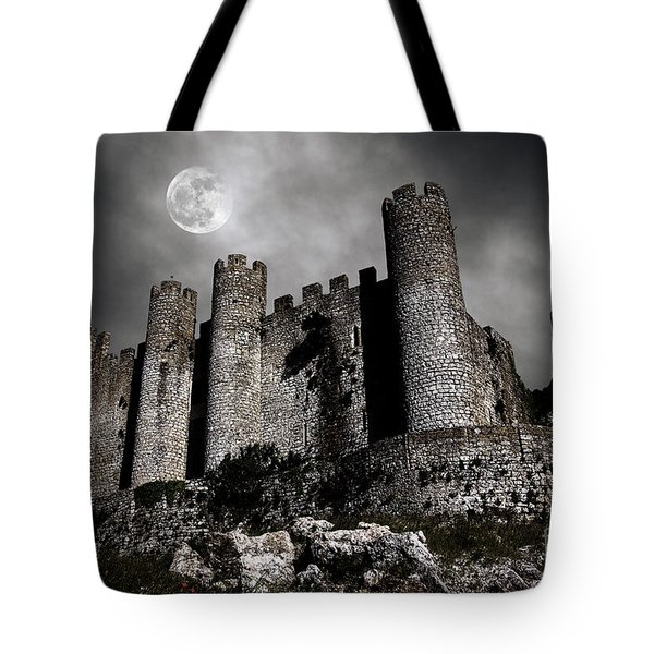 Dark Castle Tote Bag by Carlos Caetano