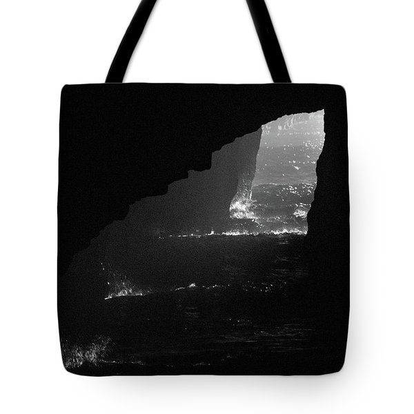 Tote Bag featuring the photograph Dark Cave by Jonny D