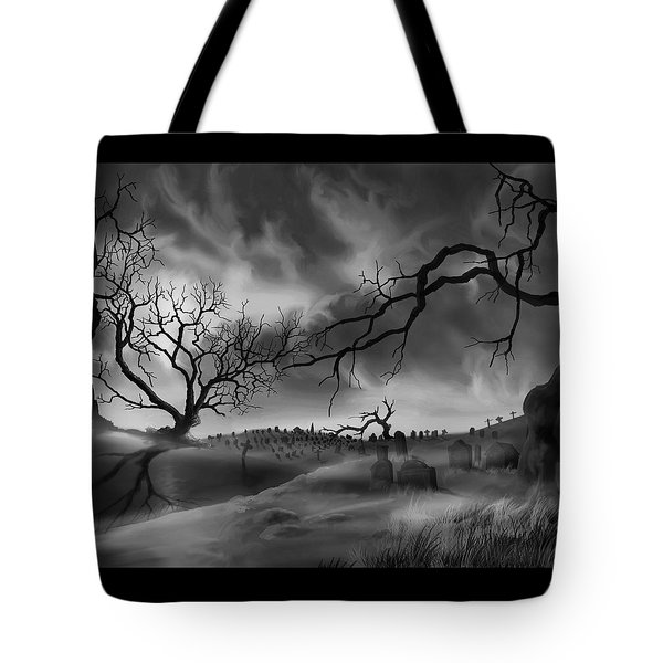 Dark Cemetary Tote Bag by James Christopher Hill