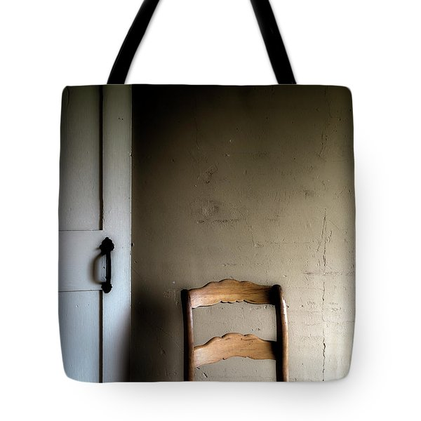 Tote Bag featuring the photograph Dark Chair Olson House by Craig J Satterlee