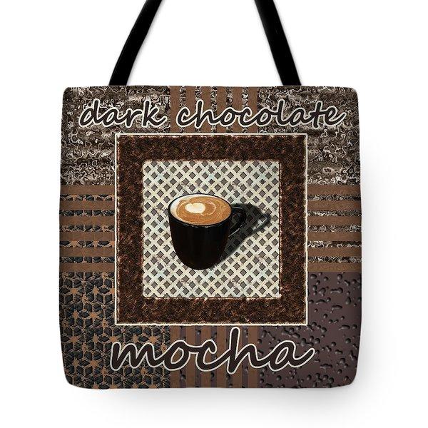 Tote Bag featuring the photograph Dark Chocolate Mocha - Coffee Art by Anastasiya Malakhova