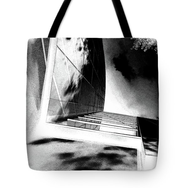 Tote Bag featuring the digital art Dark City by Kathleen Illes