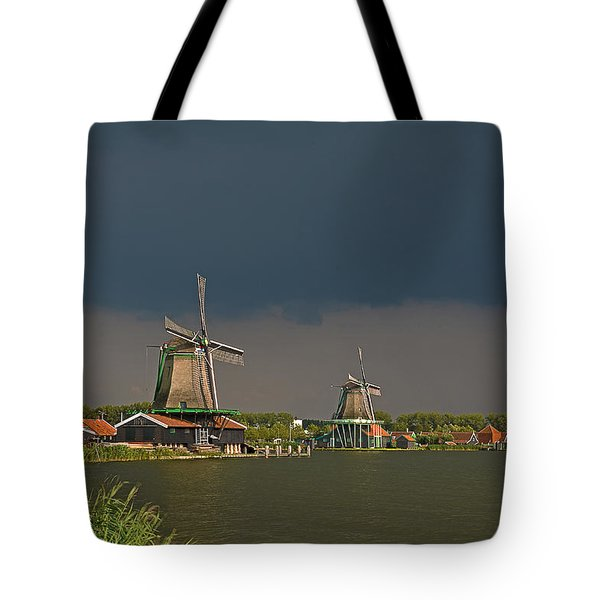 Dark Clouds Above Zaanse Schans Tote Bag