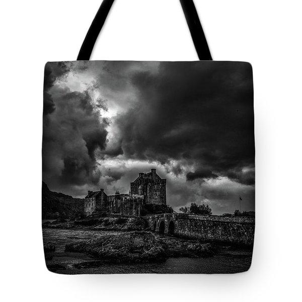 Dark Clouds Bw #h2 Tote Bag