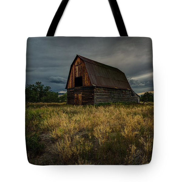 Dark Clouds Over The Barn Tote Bag