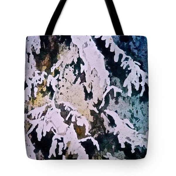 Tote Bag featuring the painting Dark Cover by Carolyn Rosenberger
