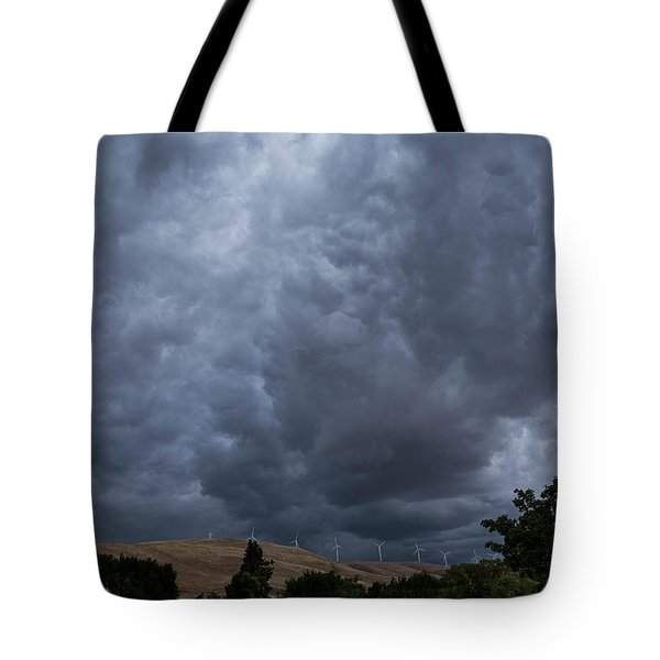 Dark Electric Tote Bag