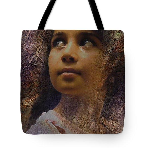 Dark Eyed Beauty Tote Bag