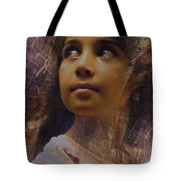 Tote Bag featuring the digital art Dark Eyed Beauty by Kate Word