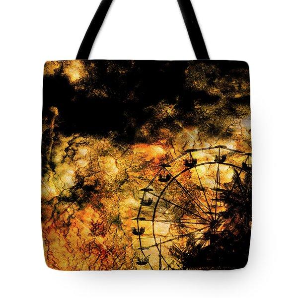Dark Ferris Wheel Tote Bag by Don Gradner