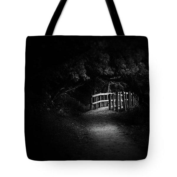 Dark Footbridge Tote Bag