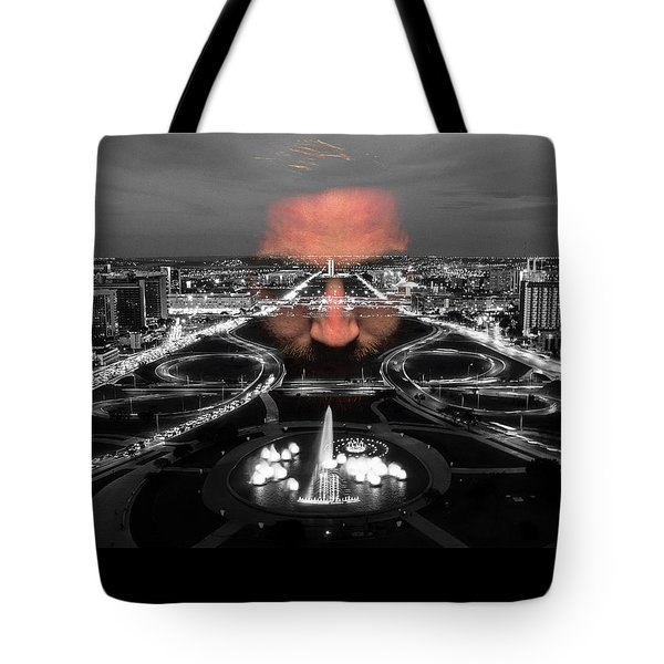 Dark Forces Controlling The City Tote Bag by ISAW Gallery