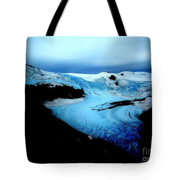 Tote Bag featuring the photograph Dark Glacier by Beauty For God