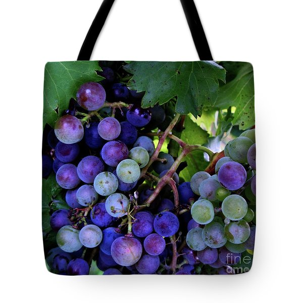 Dark Grapes Tote Bag