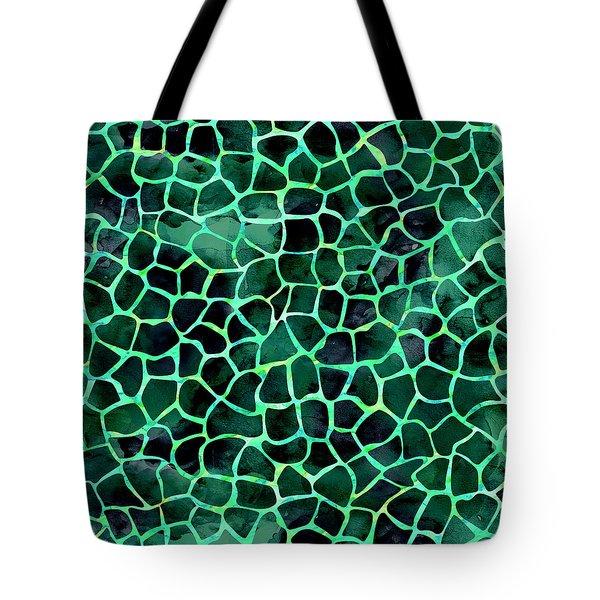 Dark Green Giraffe Print Tote Bag