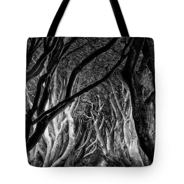 Dark Hedges Kings Road Tote Bag