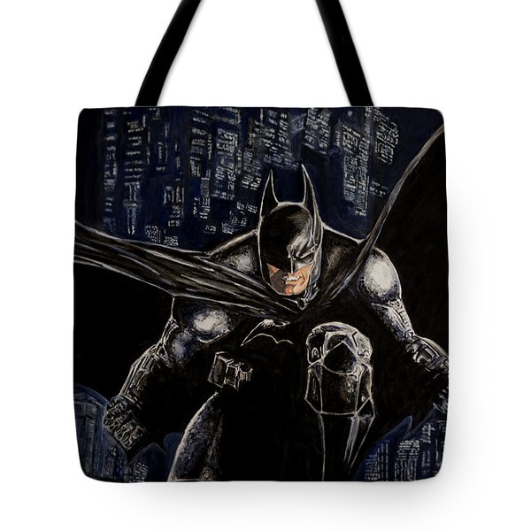 Dark Knight Tote Bag by Sylvia Thornton